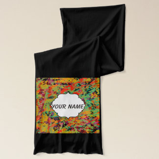 Colorful holes texture scarf