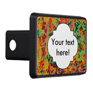 Colorful holes texture trailer hitch cover