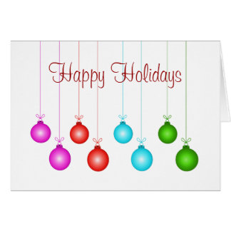 Colorful Holiday Greeting Card