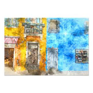 Colorful Homes in Burano Italy near Venice Art Photo