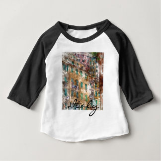Colorful Homes in Cinque Terre Italy Baby T-Shirt