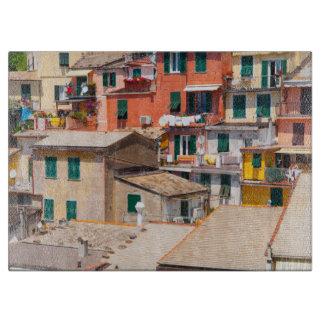 Colorful Homes in Cinque Terre Italy Boards