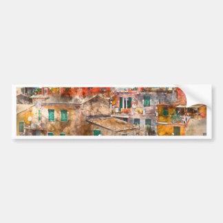 Colorful Homes in Cinque Terre Italy Bumper Sticker