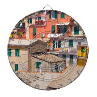 Colorful Homes in Cinque Terre Italy Dartboard