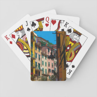 Colorful Homes in Cinque Terre Italy Playing Cards
