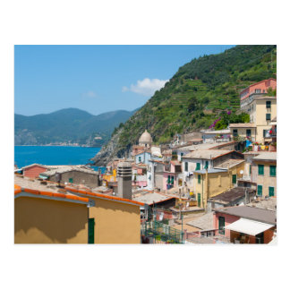 Colorful Homes in Cinque Terre Italy Postcard