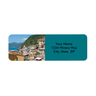 Colorful Homes in Cinque Terre Italy Return Address Label