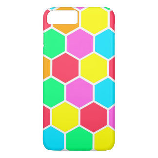 Colorful honeycomb pattern iPhone 7 plus case