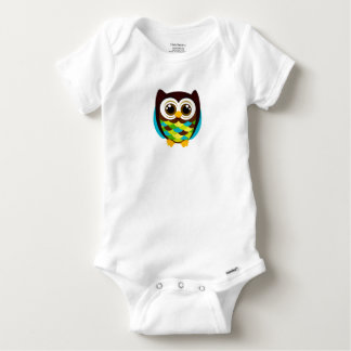 COLORFUL HOOT OWL COTTON BABY OUTFIT BABY ONESIE