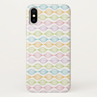 Colorful horizontal ogee pattern iPhone x case