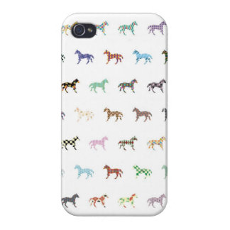 Colorful Horses Lantern Pattern iPhone 4/4S Cases