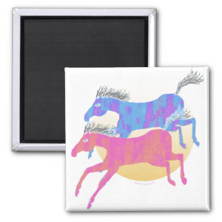 Colorful Horses of the Sun Gifts & Greetings Magnet