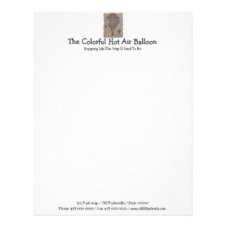 Colorful Hot Air Balloon Customized Letterhead