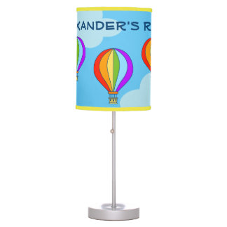 Colorful hot air balloon kids nursery table lamp