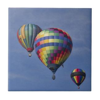 Colorful Hot Air Balloon Race Tile