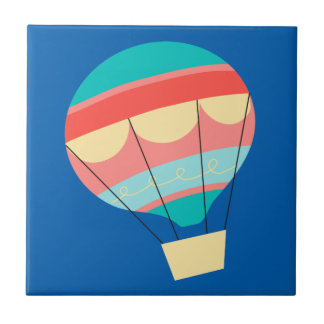 Colorful Hot Air Balloon Tile