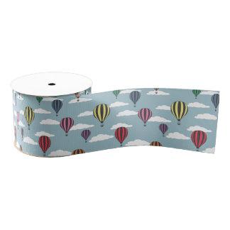 Colorful hot air balloons grosgrain ribbon