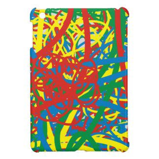 Colorful hot mess blast multi color splash rainbow iPad mini cover