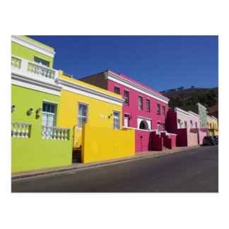 Colorful Houses in Bo-Kaap, Cape Town, Postcard