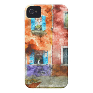 Colorful houses in Burano island, Venice Case-Mate iPhone 4 Cases