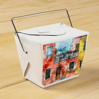 Colorful houses in Burano island Venice Italy Party Favor Box