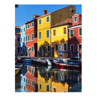Colorful Houses on the River Postcard