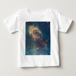 Colorful Hubble Space Telescope Carina Nebula Baby T-Shirt
