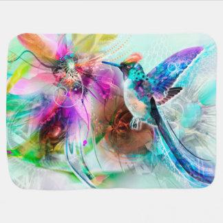 Colorful Hummingbird Baby Blanket