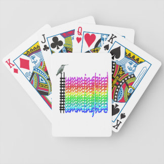 Colorful Hummingbird Bicycle Playing Cards