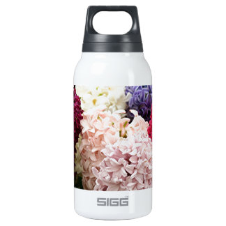 Colorful Hyacinth flowers in bloom 2 Insulated Water Bottle