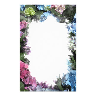 Colorful Hydrangea Blossoms Stationery