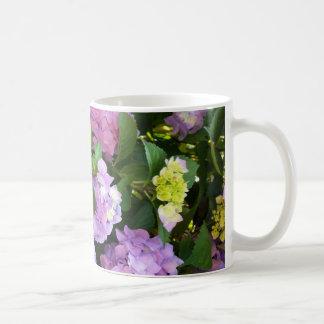 colorful hydrangea coffee mug