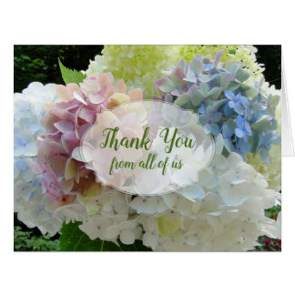 Colorful Hydrangeas Large From All Thank You Card