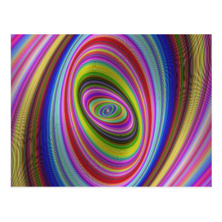Colorful Hypnosis Postcard