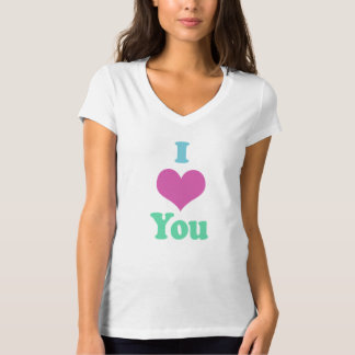 Colorful I Heart You Ladies Shirt