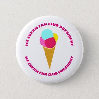 Colorful ice cream button