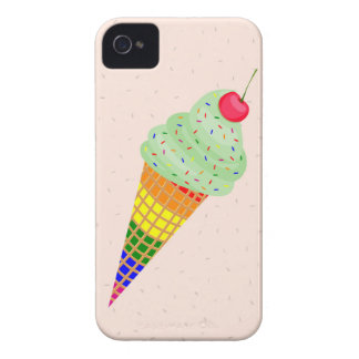 Colorful Ice Cream Cone Design Case-Mate iPhone 4 Cases