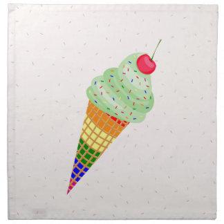Colorful Ice Cream Cone Design Napkin