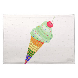 Colorful Ice Cream Cone Design Placemat