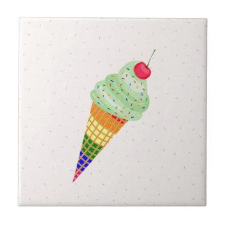 Colorful Ice Cream Cone Design Tile