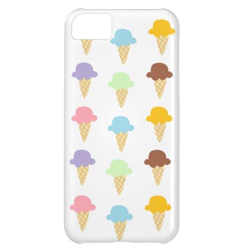 Colorful Ice Cream Cones iPhone 5C Covers