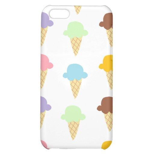 Colorful Ice Cream Cones iPhone 5C Cases