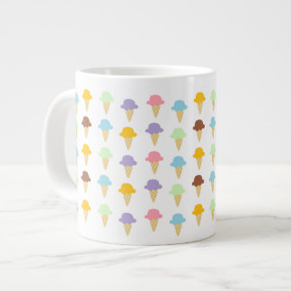 Colorful Ice Cream Cones Large Coffee Mug
