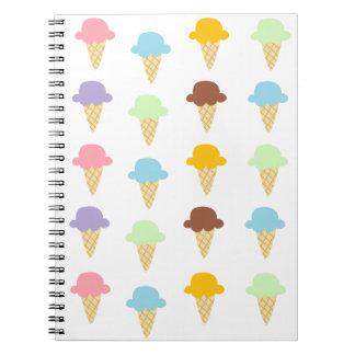 Colorful Ice Cream Cones Notebook