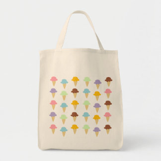 Colorful Ice Cream Cones Tote Bag