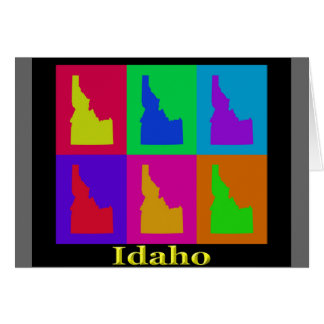 Colorful Idaho State Pop Art Map Card
