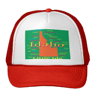 Colorful Idaho State Pride Map Mesh Hat
