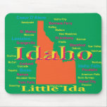 Colorful Idaho State Pride Map Mousepads