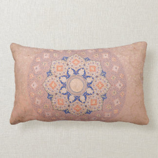 Colorful Illuminated Shamsa India Lumbar Pillow