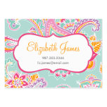 Colorful Illustrated Bohemian Paisley Henna Business Card Template